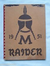 1951 MEDFORD  HIGH SCHOOL YEARBOOK  MEDFORD, WISCONSIN  RAIDER