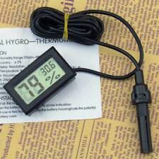 NEW Digital LCD Thermometer Hygrometer Humidity Temperature Meter Indoor w/Cable