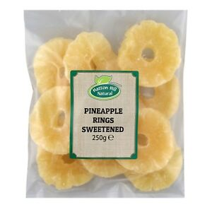 Dried Pineapple Rings Sweetened 250g