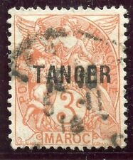 TIMBRE  COLONIES FRANCAISES / MAROC OBLITERE N° 82 SURCHARGE TANGER