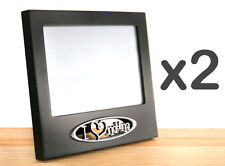 """2x 'I ❤ MUM' Silver & Black 6""""x4"""" Photo Frame - GREAT MOTHERS DAY GIFT!"""