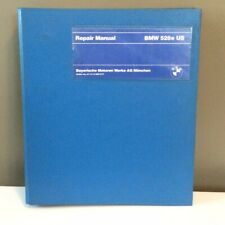 1981 BMW 528e Factory Repair Manual Printed in Germany, English Edition