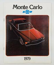 1979 Chevrolet MONTE CARLO Brochure Sales Pamphlet Catalog with Color Chart