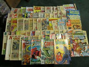 LOT OF 71   VINTAGE COMIC BOOKS!!!   SUPERMAN / BATMAN / WONDER WOMAN + MORE
