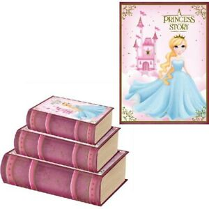 3 PIEE PRINCESS BOOK GIFT BOX BIRTHDAY, CHRISTMAS/ GIFT BOX CHILDREN