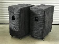 QSC KS212C KS 212C Premium Padded Black Speaker Covers- (2)  Qty of 1=1 Pair!