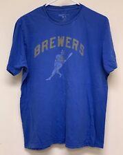 Milwaukee Brewers MLB Short Sleeve T-Shirt: Blue- Mens Size Large