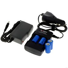 World Charger+4 x Lithium Li-ion CR2 CR-2 15270  Rechargeable Battery w/Car Plug