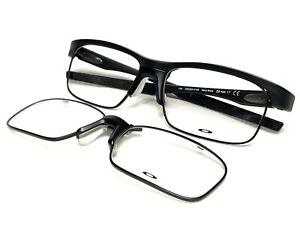 NEW Oakley Crosslink Float OX3220-0156 Mens Satin Black Eyeglasses Frames 56/17