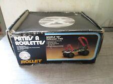 Vintage ancien Patins a roulettes ROLLET modele AS extensible du 25 au 39 (GJY)