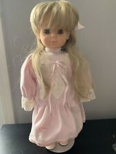 Gotz Blonde Vintage 18� Doll With Stand