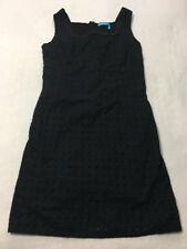 Fresh Produce M Medium Solid Black Eyelet Lace Sheath Dress Womens