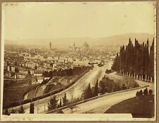 Panorama of Florence, Italy. Original 1880s Albumen Photograph