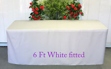 Trestle Table cover cloth Fitted White to fit 6 foot market fair folding stall