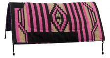 "32""x32"" PINK Western Saddle Pad W/ Felt Bottom & Suede Wear Leathers! HORSE TACK"