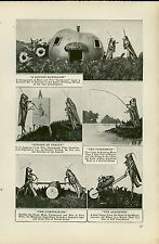 1919 Magazine Article Comic Insect Photography Taking Photos of Posed Bugs