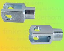 2 x Gabelkopf 12x24 M12 verzinkt - ohne Zubehör - Gabelgelenk Gabelköpfe