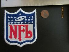 """NFL FOOTBALL 3 3/4"""" White Outline Large Patch 1970-2007 Logo Shield Football"""