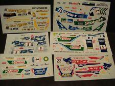 LOT DECALS 1/43 FORD FOCUS WRC RALLYE  - COLORADO  DCV025