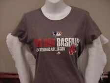 CUTE Boston Red Sox Women's Md Grey Majestic Auth Collection Cotton T-Shirt, NEW