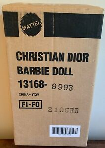 NEW & SEALED Christian Dior Barbie Doll Limited Edition - Mattel #13168 - 1995