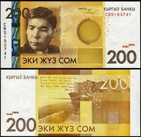 Kyrgyzstan 200 Som 2010, UNC, P-27, Prefix CB