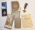 WW1 Imperial German Bavarian Military Merit & Iron Cross Fully ID'd with Photos