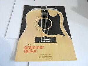 VINTAGE MUSICAL INSTRUMENT CATALOG #10651 - 1970s GRAMMER GUITAR