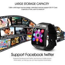 Sport Health Smart Bluetooth Watch Wrist Bracelet Q18 for Android SIM Card Black