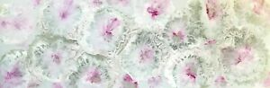 MODERN ABSTRACT CANVAS PAINTING PINK WHITE SILVER FLOWERS AUSTRALIAN ARTIST