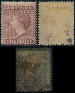 ANTIGUA 1863 - 1867, Watermark STAR, PERF. 14, 1d MINT VALUE, SCARCE !    #Z933