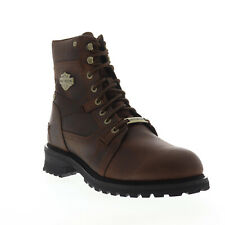 Harley-Davidson Haines D93523 Mens Brown Leather Motorcycle Boots Shoes