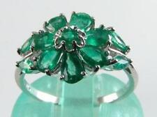 Emerald 9 Carat White Gold Art Deco Fine Jewellery