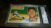1956 Topps #140 Herb Score Indians RC ROOKIE PSA/DNA CENTERED & BOLD AUTO D.2008
