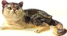 Grumpy Cat Katze Geschenk Deko Figur Sammlerstück Schmuckschatulle Pillendose