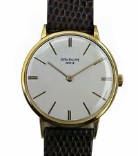 Vintage 1960's PATEK PHILIPPE 18K Gold Men's Classic Style Watch Ref.3468