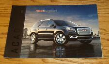 Original 2016 GMC Acadia Sales Brochure 16