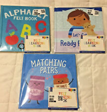 New listing New Alphabet & Matching Pairs & Bed time Felt Learning Books Lot 3+