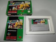 World Class Rugby For Super Nintendo Boxed With Manual In Good Used Condition