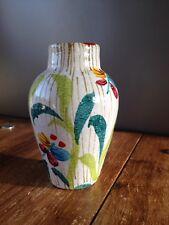 Retro anni'70 ITALIAN MAIOLICA CERAMICA FARFALLA Bud Vase metà del secolo moderno ITALIA