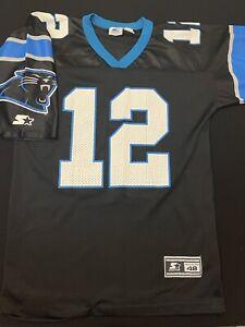 Vintage Starter Kerry Collins Carolina Panthers Jersey Adult L (48)Black Blue