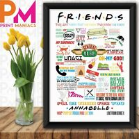 PERSONALISED Friends Show Quotes Birthday Gift Present Home Wall photo HIS HER