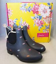 Joules Z Junior Rockingham Navy Multi Spot Waterproof Rubber Boots Kids Size 9