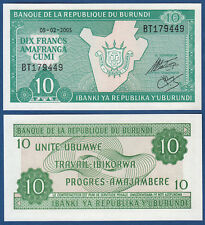 Burundi 10 francos 2005 UNC p.33 e