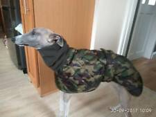 Waterproof outdoor coat whippet greyhound lurcher italian camouflage 24""