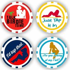 Golf Ball Marker Poker Chips, 4 chips (11.5 gram chips)