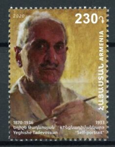 Armenia Art Stamps 2020 MNH Yeghishe Tadevossian Paintings Self-Portrait 1v Set
