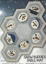 Snow Buddies Table Mat applique quilt pattern Primitive Gatherings for Checkers