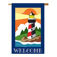 New listing Lighthouse - Applique Decorative House Flag - H106052-P2