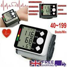 Wrist Blood Pressure Monitor LCD Digital Display  Heart Beat Rate Pulse Measure